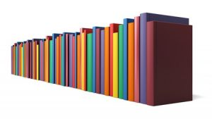 43633791 - color books in line isolated on a white background